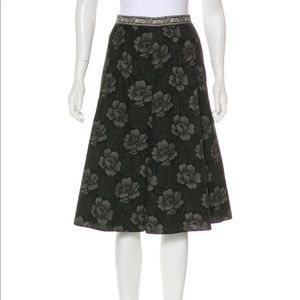 Max Mara Weekend Black Floral Print Skirt size 6